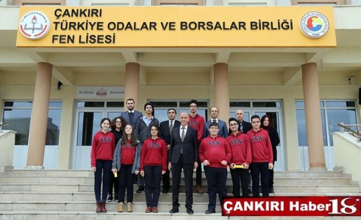 Çankırı - Vali Hamdi Bilge AKTAŞ TOBB Fen Lisesini Ziyaret Etti  - Valilik - haber18