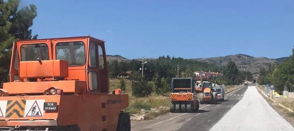 Çankırı - Yapraklı Çankırı Karayolu 2. Kat Satıh Asfalt Kaplama Yapımı Başladı - Yapraklı haberleri haber18 haberleri
