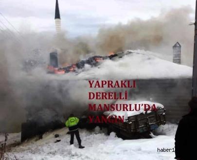 Çankırı Haber18 - Yapraklı Derelli Mansurlu 'da Yangın, Çankırı Yapraklı - Çankırı, haber