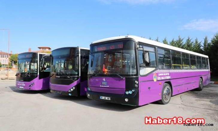 Çankırı - Yoğun Hatlara İlave Üç Büyük Otobüs - Çankırı Belediyesi haber18 haberleri